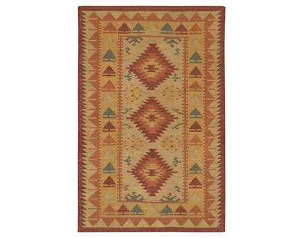 Chandra Kilim Rectangular Brown Area Rug