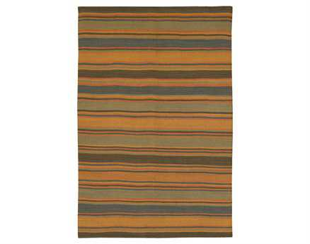 Chandra Kilim Rectangular Orange Area Rug