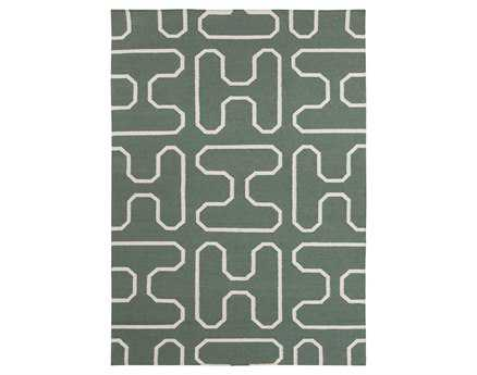 Chandra Lima Rectangular Green Area Rug