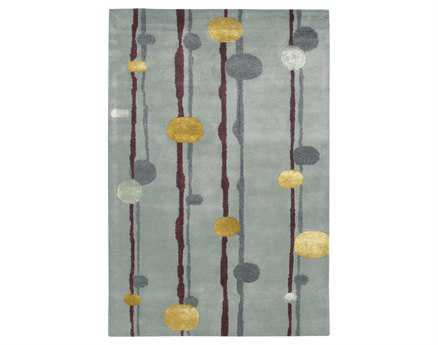 Chandra Lost Link Rectangular Gray Area Rug