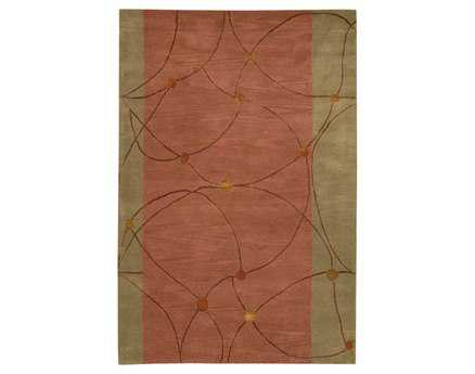 Chandra Lost Link Rectangular Brown Area Rug