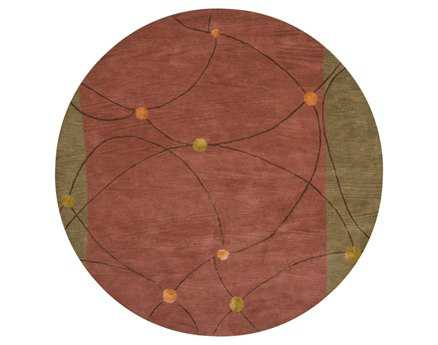 Chandra Lost Link Round Brown Area Rug
