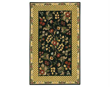 Chandra Metro Rectangular Green Area Rug