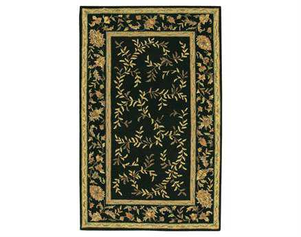 Chandra Rectangular Black Area Rug