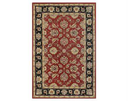 Chandra Metro Rectangular Red Area Rug