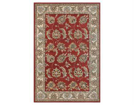 Chandra Metro Red Area Rug