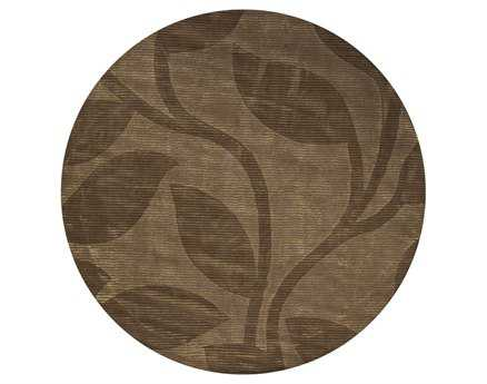 Chandra Pernille Round Brown Area Rug