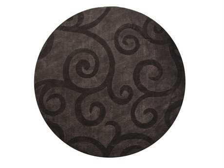 Chandra Pernille Round Gray Area Rug