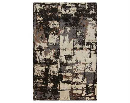 Chandra Rupec Rectangular Black Area Rug