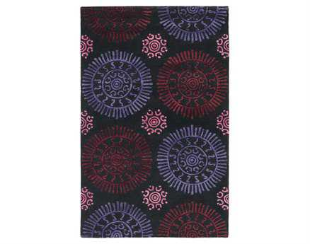 Chandra Stanton Rectangular Purple Area Rug