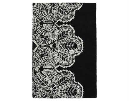 Chandra Taru Rectangular Black Area Rug