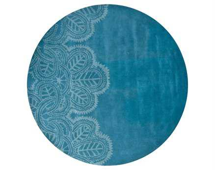 Chandra Taru Round Blue Area Rug