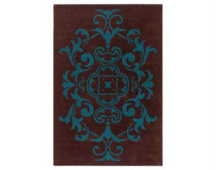Chandra Venetian Rectangular Brown Area Rug