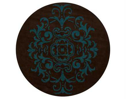 Chandra Venetian Round Brown Area Rug