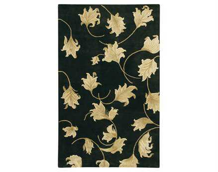 Chandra Verona Rectangular Black Area Rug