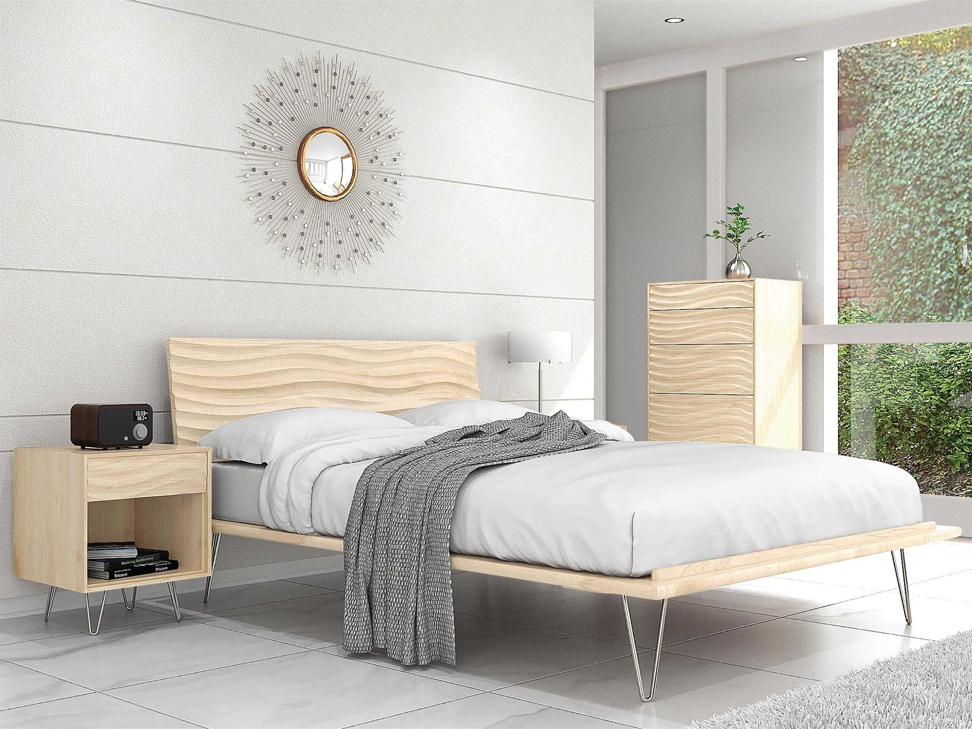 Copeland Furniture Wave Bedroom Set | CF1WAV02SET