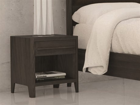 Copeland Furniture Surround 20''W x 18''D Rectangular One-Drawer Nightstand with Wood Top