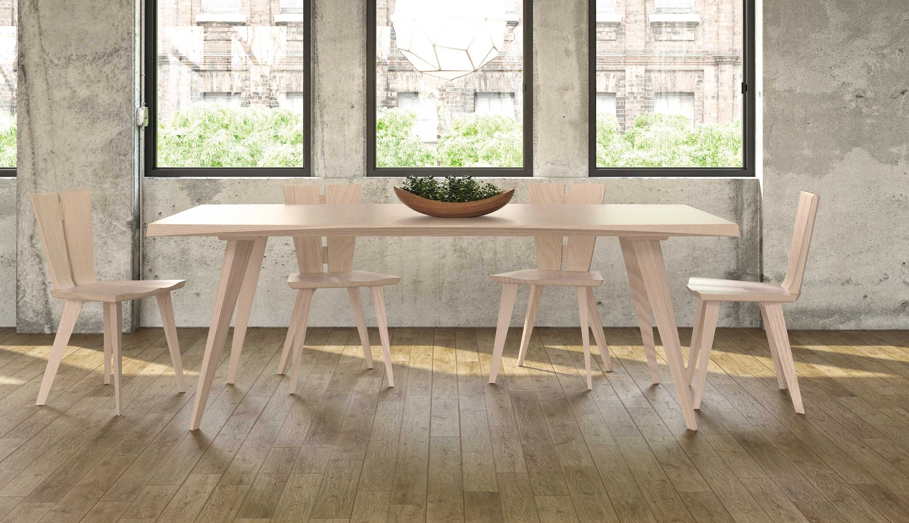 Dining table copeland furniture axis 60l x 42w rectangular