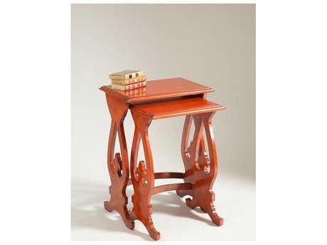 Chelsea House Gilbert Red 18''L x 12.5''W Rectangular Nesting Table