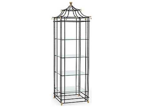 Chelsea House Bamboo Black 27 x 84 Etagere