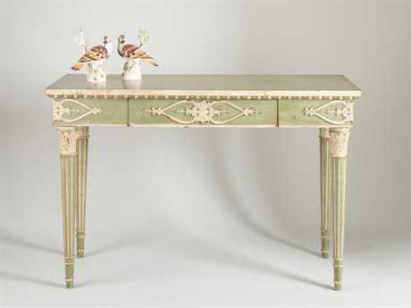 Chelsea House Wapole Light Green with Antique White 52''L x 18''W Rectangular Console Table
