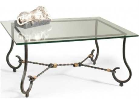 Chelsea House Abbot Black With Gold Cocktail Table