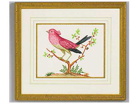 Chelsea House Pink Bird Black Tail Painting
