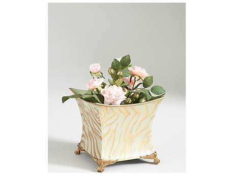 Chelsea House Tiger Square Table Ceramic Pot Planter