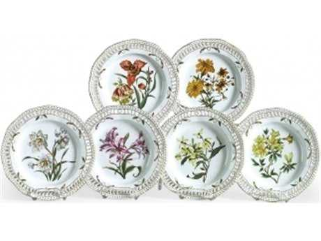 Chelsea House Hand Painted Porcelain Botanical Decorative Plate