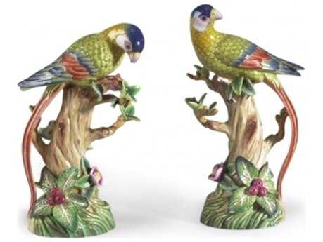Chelsea House Parrot Fruit Tree Figurine (Set of Two)