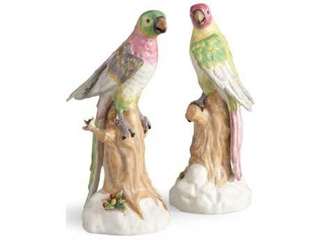 Chelsea House Pastel Parrots Sculpture (Set of Two)