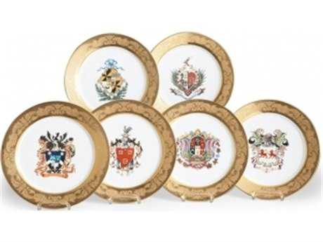 Chelsea House Crest Chargers Decorative Plates (Set of Six)