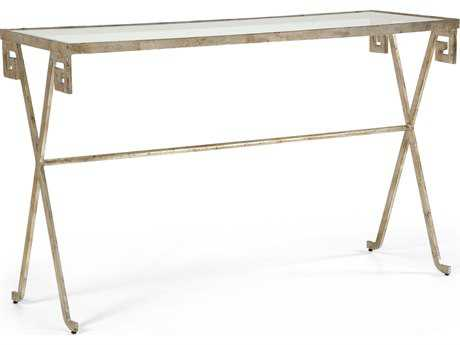 Chelsea House Sloan Silver Leaf 60''L x 18''W Rectangular Console Table