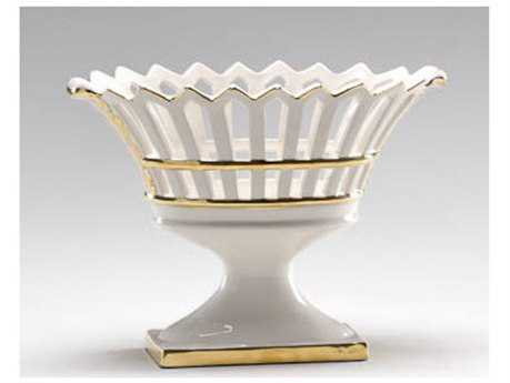 Chelsea House Gold Classic Footed Decorative Bowl