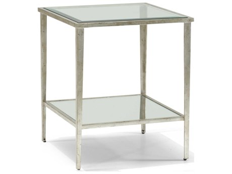 Chelsea House Carson Silver Leaf 22'' Square End Table