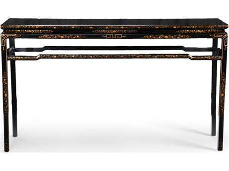 Chelsea House Oriental Antique Black 62''L x 16''W Rectangular Console Table