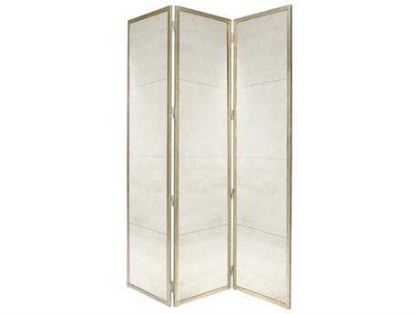 Chelsea House Lisa Kahn Classic Gilt Screen Silver Room Dividers