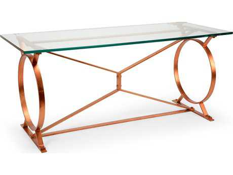 Chelsea House Port Royal Copper Leaf 68''L x 27''W Rectangular Console Table