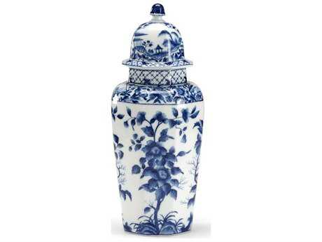 Chelsea House Blue & White Temple Jar
