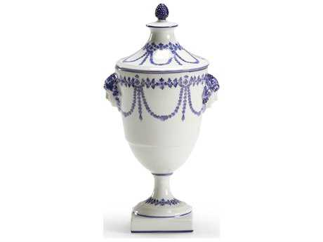 Chelsea House Porcelain Blue Swag Vase
