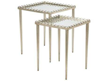 Chelsea House Nottinghill Antique Silver 20''L x 18''W Rectangular Nesting Table