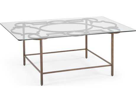 Chelsea House Tracery Bronze 48''L x 30''W Rectangular Cocktail Table