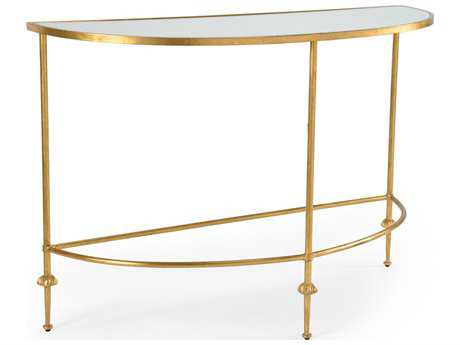 Chelsea House French Antique Gold 48''L x 18''W Demilune Console Table