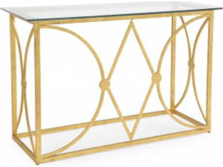 Chelsea House New Castle 55 x 38 Rectangular Old Gold Console Table