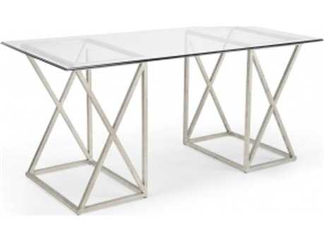 Chelsea House Gilt 65 x 30 Rectangular Silver Console Table