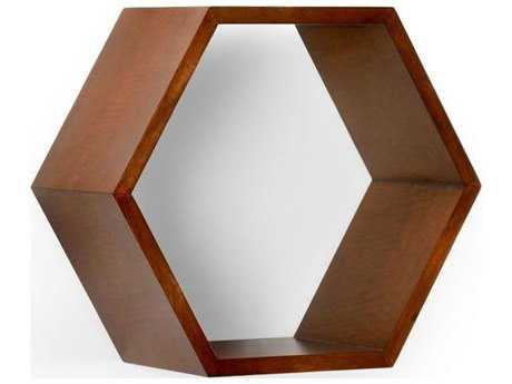 Chelsea House Honeycomb Cherry Wood Wall Box