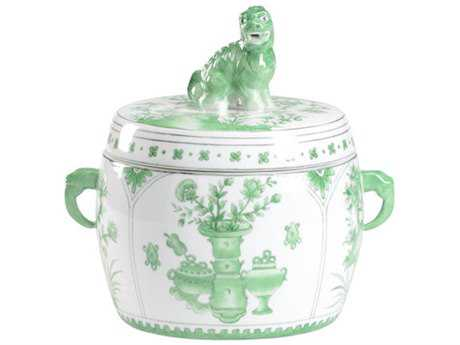 Chelsea House Green Covered Jar