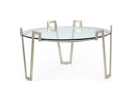 Chelsea House 37 Round Antique Silver Cofer Cocktail Table