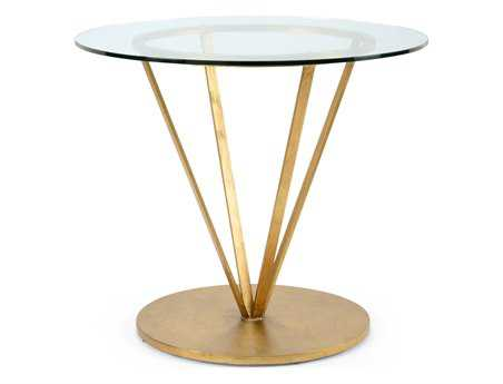 Chelsea House 36 Round Antique Gold Antoine End Table