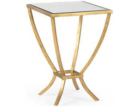 Chelsea House 14 Square Antique Gold Harper Side Table